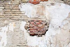 Vecchia struttura del muro di mattoni del gesso fotografia stock