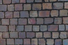 Vecchia struttura del percorso della pavimentazione del mattone Immagini Stock