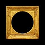 Vecchia struttura dell'oro dell'immagine Immagini Stock