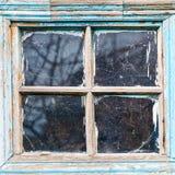 Vecchia struttura della finestra di legno misera Immagini Stock Libere da Diritti