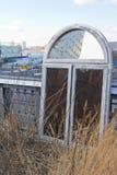 Vecchia struttura della finestra a Manhattan - Highline immagini stock libere da diritti