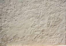 Vecchia struttura della parete dello stucco di colore beige Fotografia Stock