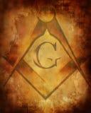 Vecchia struttura di carta con il segno del freemason Immagine Stock Libera da Diritti