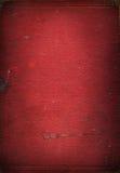 Vecchia struttura di cuoio rossa del libro Fotografie Stock