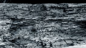 Vecchia struttura di legno in bianco e nero fotografia stock