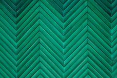 Vecchia struttura di legno della plancia dipinta verde d'annata Immagine Stock