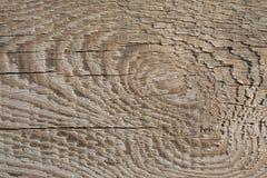 Vecchia struttura di legno della plancia sul Sun attenuato immagine stock libera da diritti