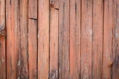 Vecchia struttura di marrone/arancio ceppo della parete Fotografie Stock Libere da Diritti