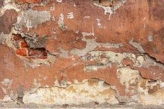 Vecchia struttura dipinta del gesso Fotografie Stock Libere da Diritti
