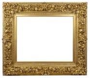 Vecchia struttura dorata d'annata su un fondo bianco Immagine Stock Libera da Diritti