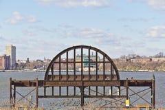 Vecchia struttura edile del ferro a Manhattan immagini stock