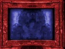 Vecchia struttura gotica rossa e blu Fotografie Stock Libere da Diritti