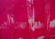 Vecchia struttura rosa della valigia della copertina dura Fotografie Stock