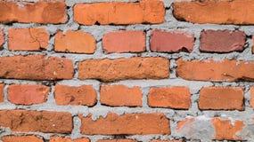 Vecchia struttura rossa del muro di mattoni Fotografia Stock Libera da Diritti