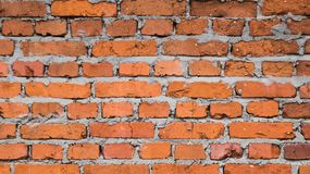 Vecchia struttura rossa del muro di mattoni Fotografie Stock