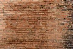 Vecchia struttura rossa del muro di mattoni immagine stock