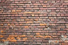Vecchia struttura rossa della foto del muro di mattoni fotografia stock libera da diritti