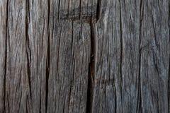 Vecchia struttura scura della superficie del legno duro fotografia stock
