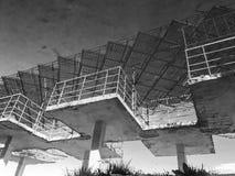 Vecchia struttura sovietica concreta vicino al Mar Nero a Odessa, Ucraina Fotografia Stock Libera da Diritti
