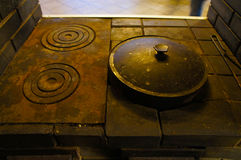 Vecchia stufa di cucina Fotografia Stock Libera da Diritti