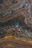 Vecchia superficie corrosa approssimativa arrugginita sporca di lerciume Fine in su Fotografia Stock Libera da Diritti
