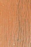 Vecchia superficie di legno reale con la pittura marrone di colore Immagini Stock