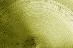 Vecchia superficie di metallo con i graffi nel tono giallo Fotografia Stock Libera da Diritti