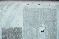 Vecchia superficie di metallo dipinta Fotografia Stock Libera da Diritti