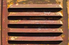 Vecchia superficie graffiata di metallo della ruggine e della pittura, sfiatatoio Fotografia Stock