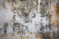 Vecchia superficie intonacata della pietra Fotografia Stock