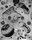 Vecchia sveglia meccanica del movimento a orologeria Fotografia Stock