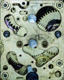 Vecchia sveglia meccanica del movimento a orologeria Fotografie Stock