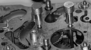 Vecchia sveglia meccanica del movimento a orologeria Fotografia Stock Libera da Diritti