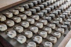 Vecchia tastiera Fotografia Stock Libera da Diritti