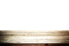 Vecchia tavola con fondo bianco Immagini Stock