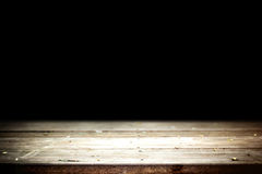 Vecchia tavola con fondo nero Fotografia Stock Libera da Diritti