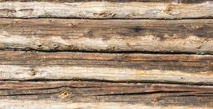 Vecchia tavola della plancia di Brown Fotografia Stock