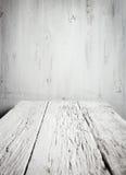 Vecchia tavola di legno vuota immagini stock libere da diritti