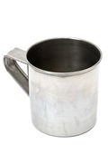 Vecchia tazza del metallo Immagini Stock Libere da Diritti