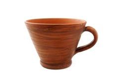 Vecchia tazza dell'argilla Fotografie Stock