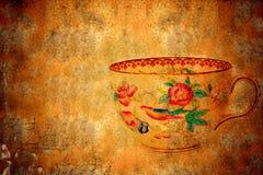 Vecchia tazza dello spazio della copia del tè Fotografia Stock