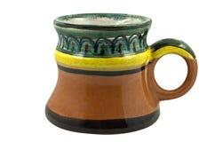 Vecchia tazza di birra dell'argilla Fotografie Stock Libere da Diritti