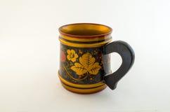 Vecchia tazza di legno russa Fotografia Stock