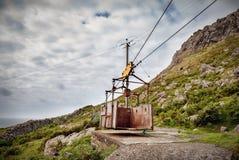 Vecchia teleferica Fotografia Stock
