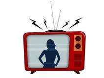 Vecchia televisione Immagini Stock Libere da Diritti