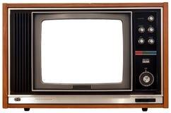 Vecchia televisione di colore Fotografia Stock Libera da Diritti