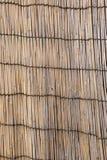 Vecchia tenda ondulata di bambù Fotografia Stock