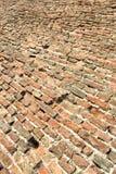 Vecchia terra del pavimento del mattone Fotografie Stock