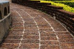 Vecchia terra della laterite, pavimentazione piastrellata Immagine Stock Libera da Diritti