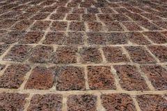 Vecchia terra della laterite, pavimentazione piastrellata Fotografia Stock